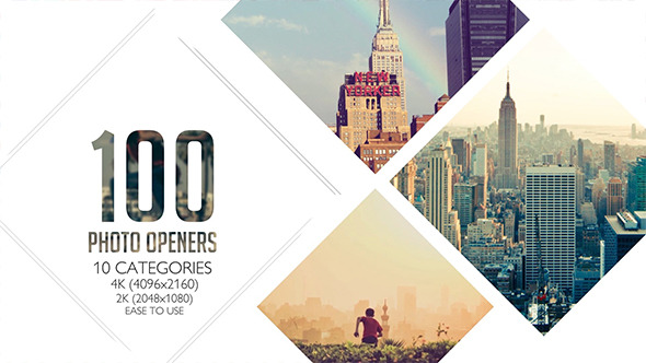 100 Clean Photo Openers Logo Reveal Pack