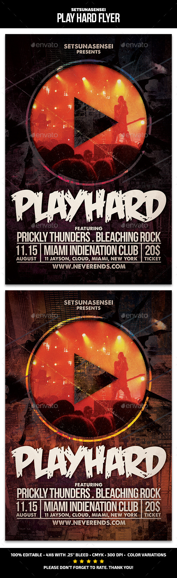 GraphicRiver Play Hard Flyer 11765668