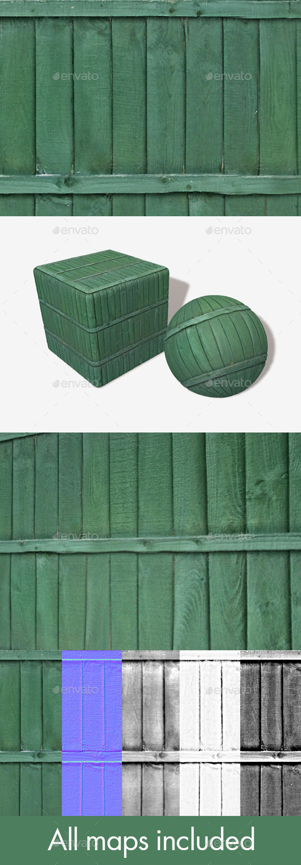 3DOcean Green Wooden Panels Seamless Texture 11765711