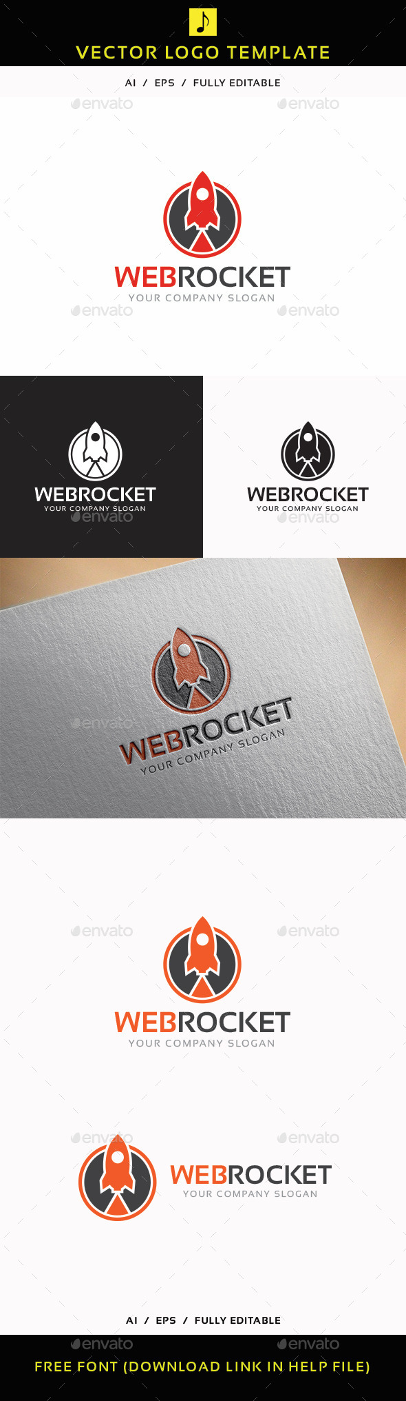 GraphicRiver Web Rocket 11765790