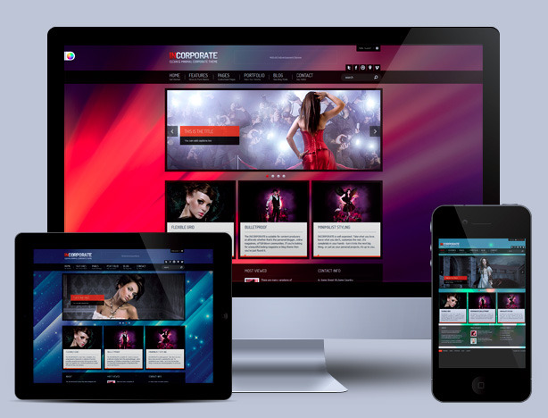 Incorporate Portfolio HTML Template - overall previews on different devices