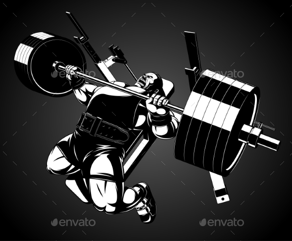 GraphicRiver Bodybuilder with a Barbell 11765961