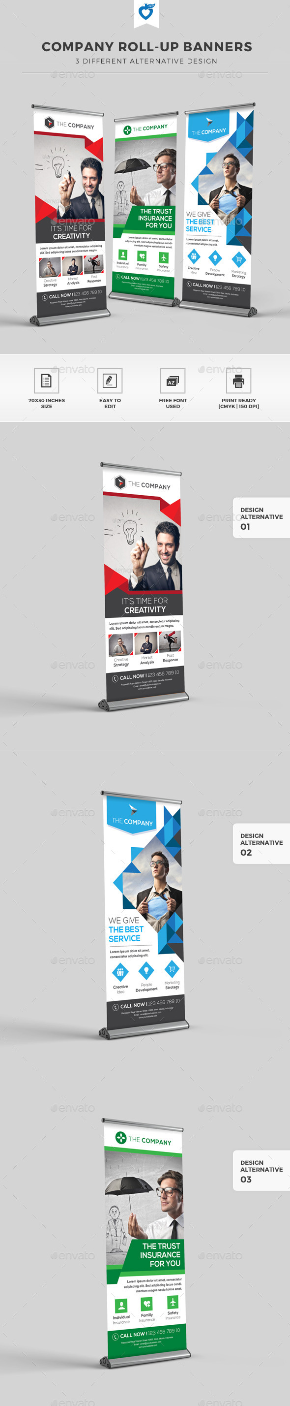 GraphicRiver Company Roll-up Banners 11765971