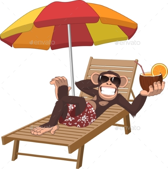 GraphicRiver Monkey With a Cocktail 11765989