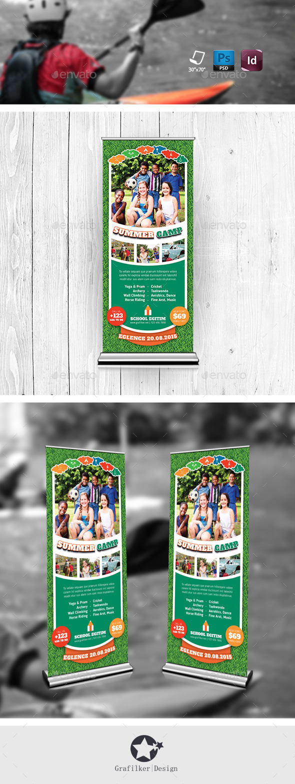 GraphicRiver Summer Camp Roll-Up Templates 11766032