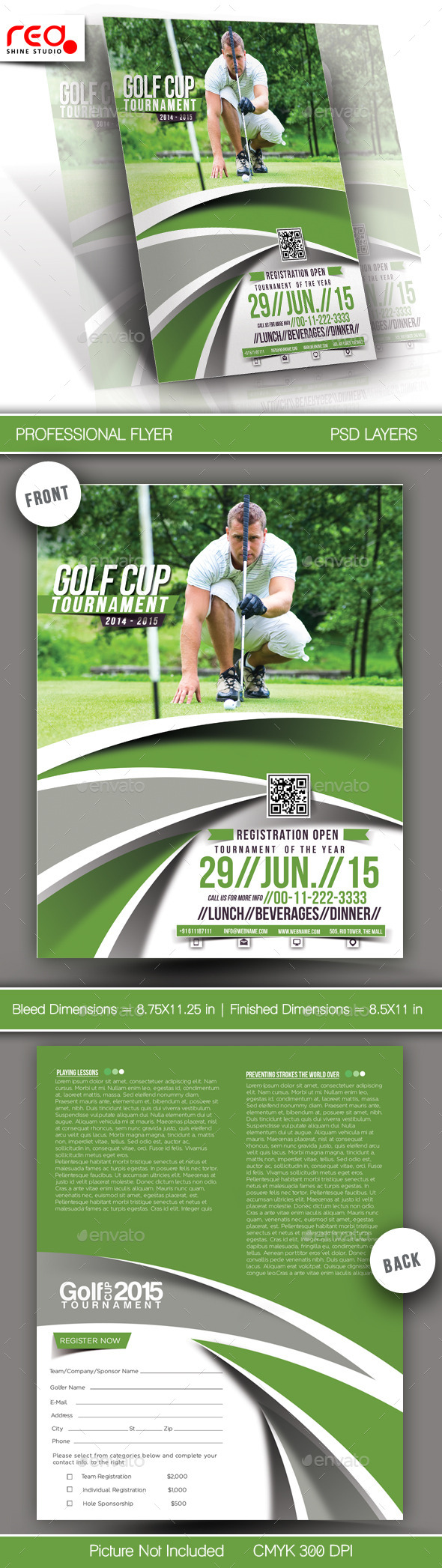 GraphicRiver Golf Cup Tournament Flyer Template 3 11766070