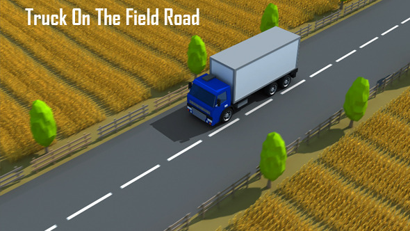Truck On The Field Road