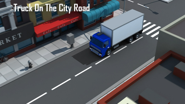 Truck On The City Road