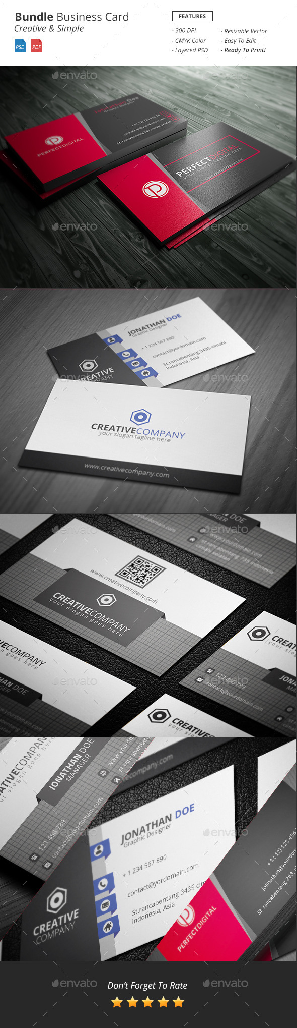 GraphicRiver Bundle Business Card 11766384