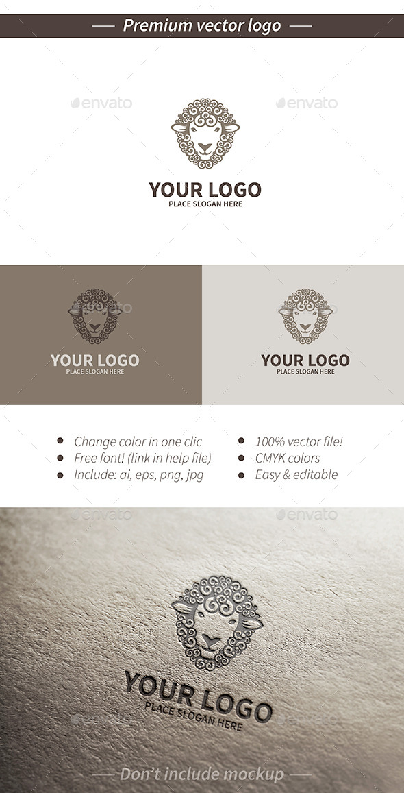 GraphicRiver Sheep logo 11758942