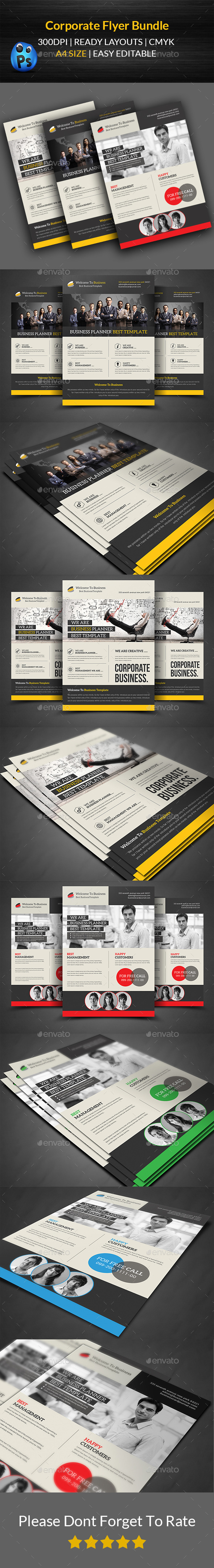 GraphicRiver Corporate Flyer Bundle Templates 11766525