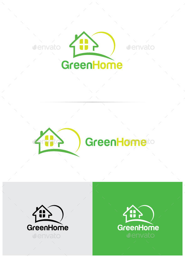 GraphicRiver Logo Design Green Home 11753510