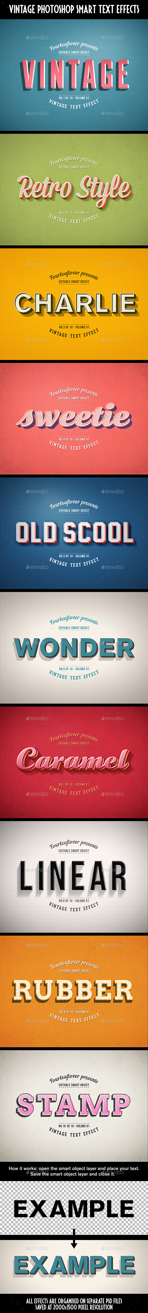 GraphicRiver Retro PSD Text Effects vol.1 11766807