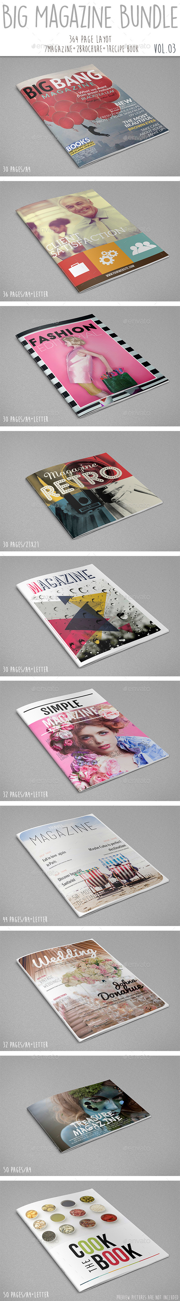 GraphicRiver Big Magazine Bundle Vol.03 11766926