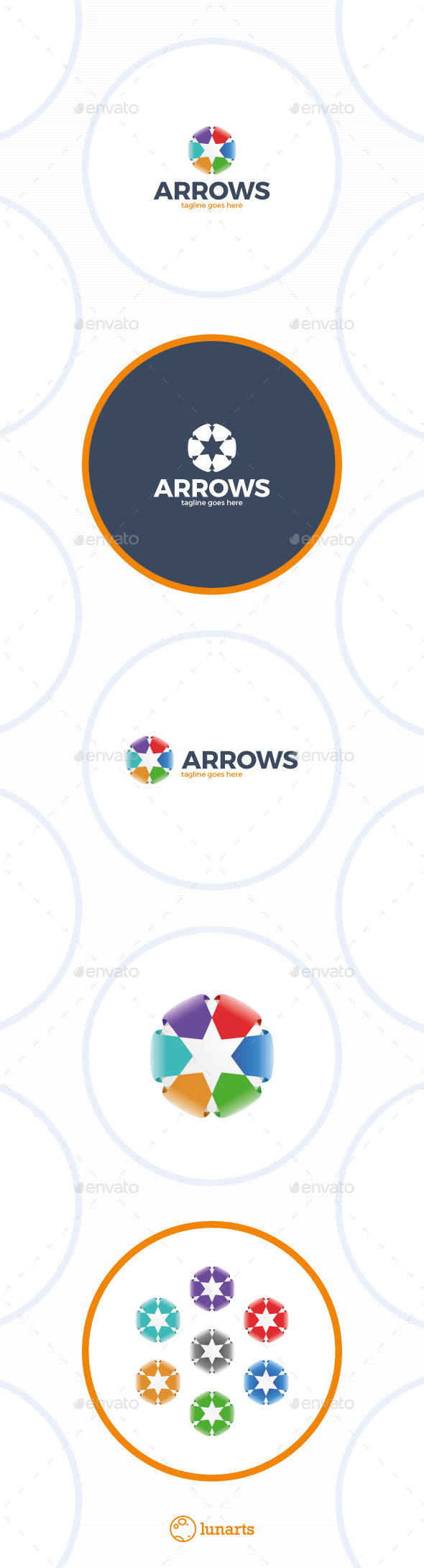 GraphicRiver Color Arrow Star Logo 11766939