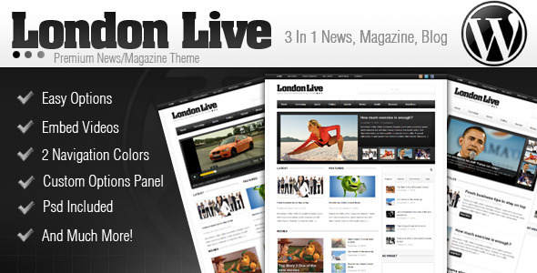 London Live 3 In 1 - News, Magazine And Blog - ThemeForest Item for Sale
