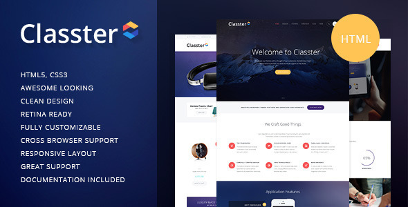 Classter | Multi-Purpose HTML Theme (Corporate) Download