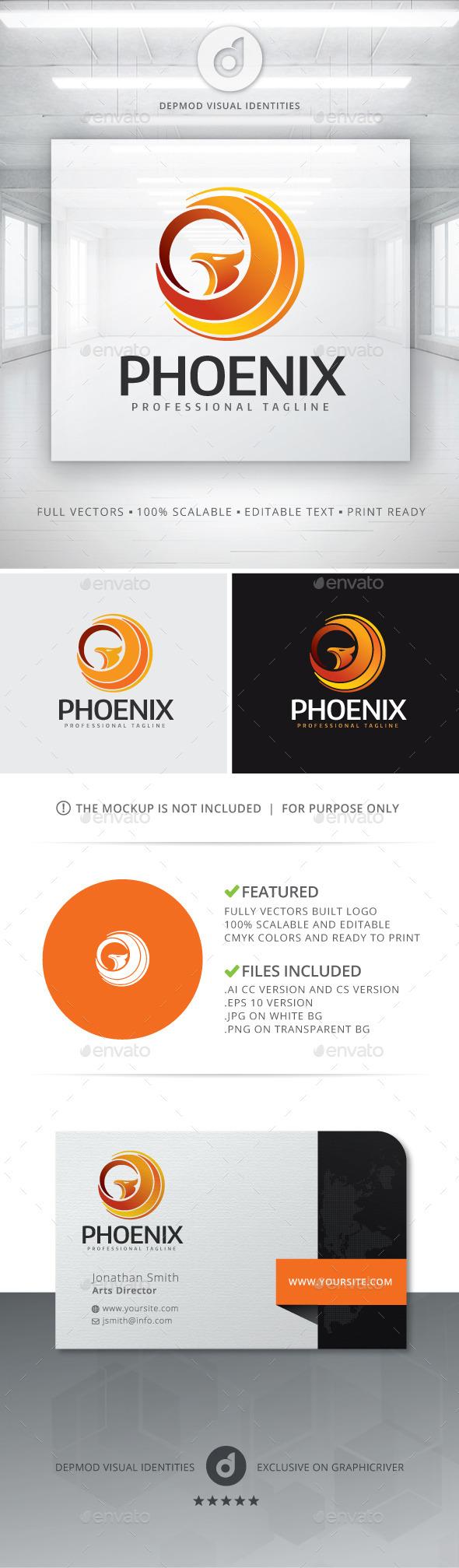 GraphicRiver Phoenix Logo 11767122