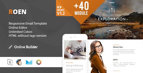 ThemeForest ROEN Modern Email Template & Online Access 11655409