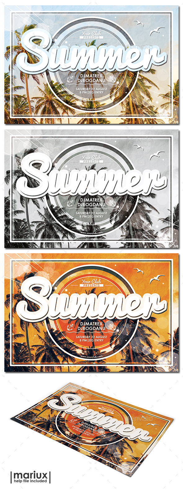 GraphicRiver Summer Party Flyer 11767246