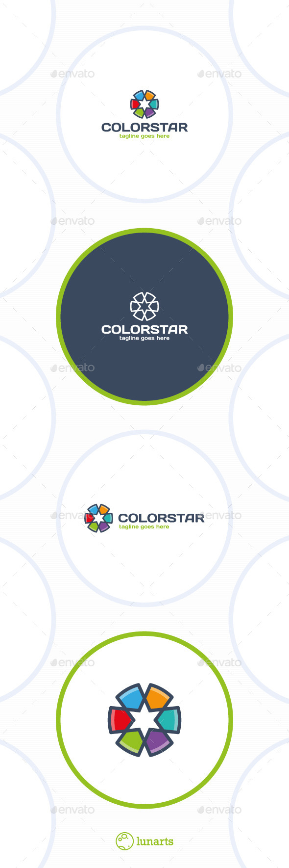 GraphicRiver Color Star Line Logo 11767289