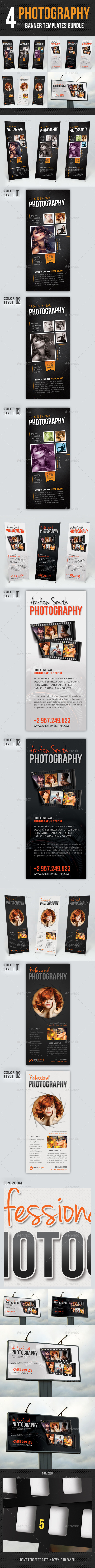 GraphicRiver 4 in 1 Photography Multipurpose Banner Bundle 11767117