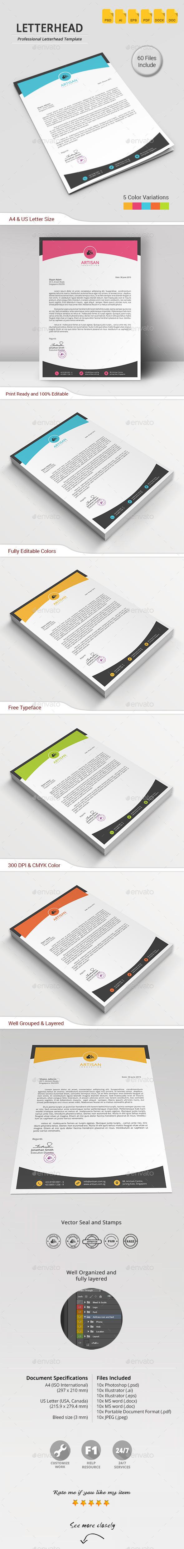 GraphicRiver Letterhead 11767373