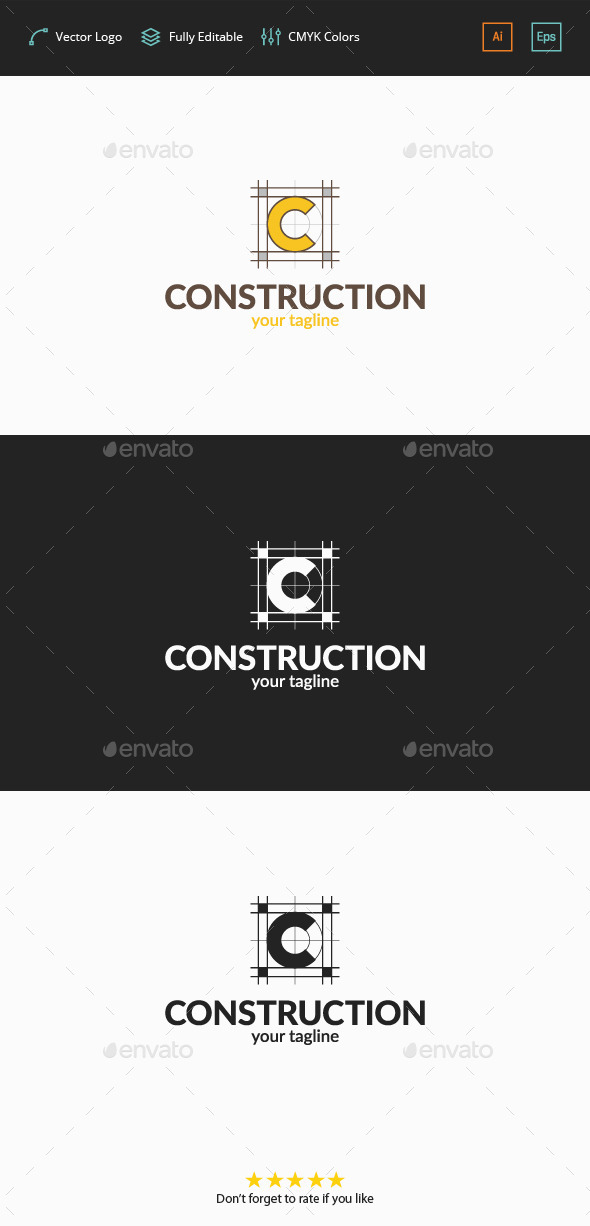 GraphicRiver Construction Plan C Logo 11767372