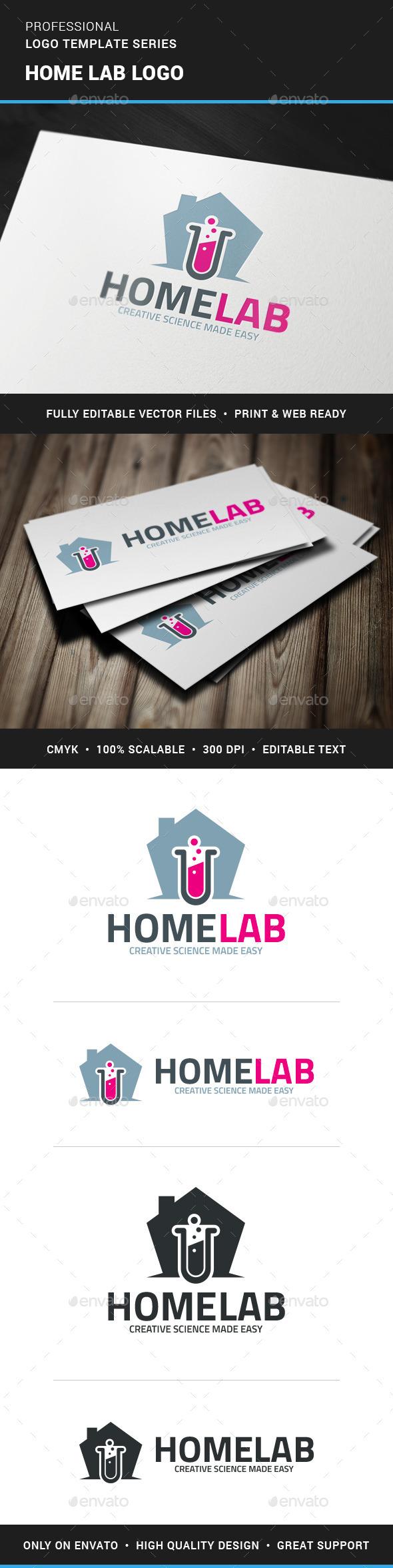 GraphicRiver Home Lab Logo Template 11767487