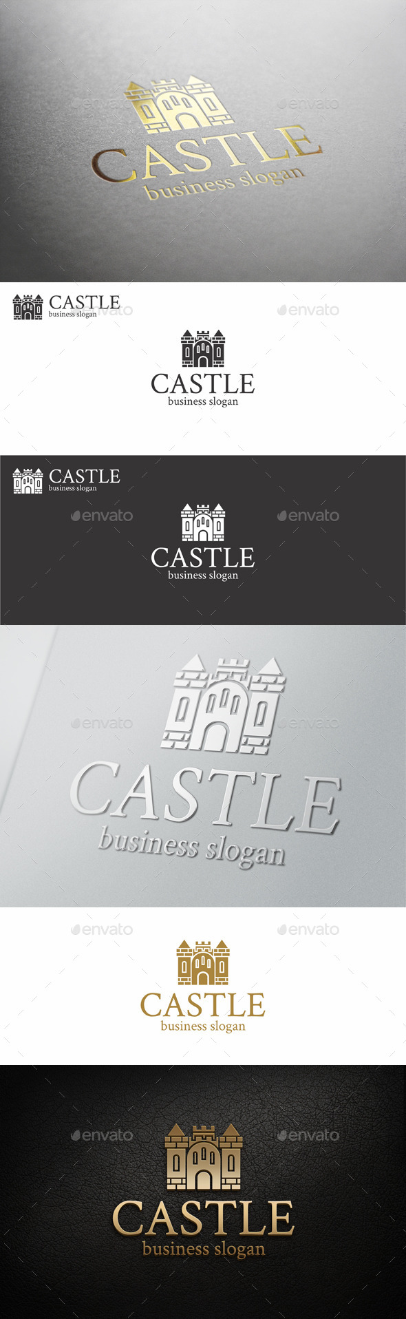 GraphicRiver Castle Fortress Logo Template 11767493