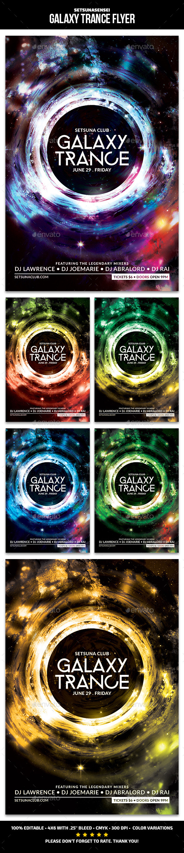 GraphicRiver Galaxy Trance Flyer 11767547