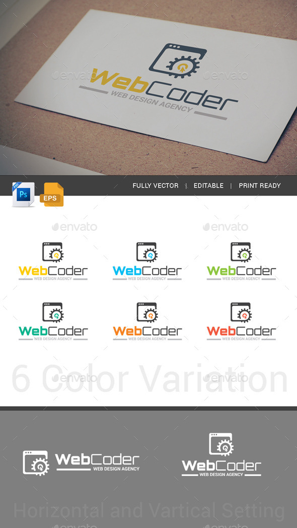 GraphicRiver Web Design Web Development Agency Logo Template 11767868