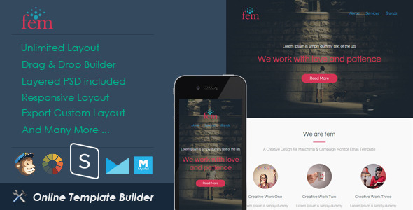 ThemeForest Fem Responsive Email & StampReady Builder 11524466