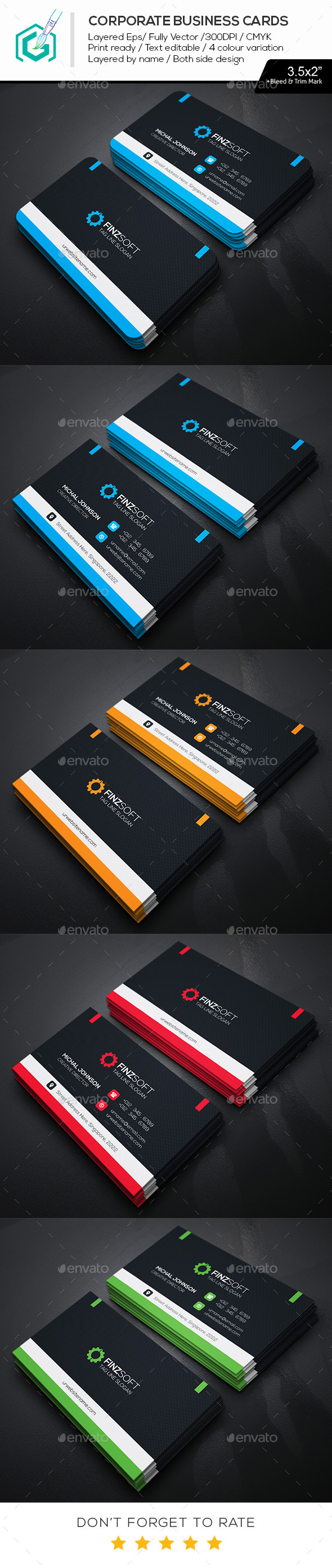 GraphicRiver Head Line Business Cards 11768166