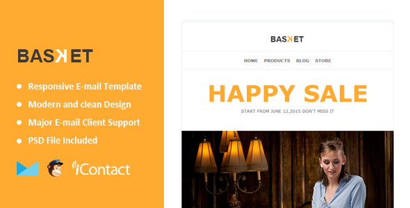 ThemeForest Basket Responsive E-mail Template 11768204
