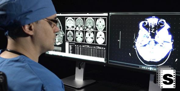 Doctor Checking Mri