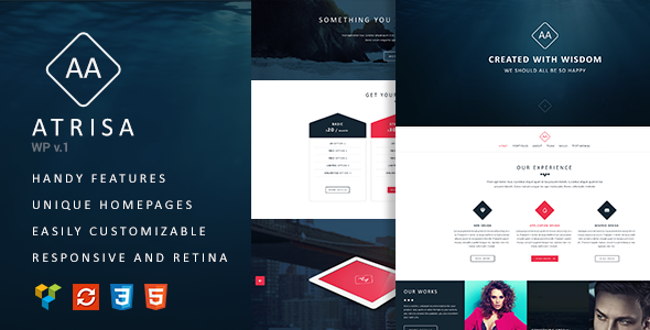 ThemeForest Atrisa One Page Multi-Purpose WordPress Theme 11593144
