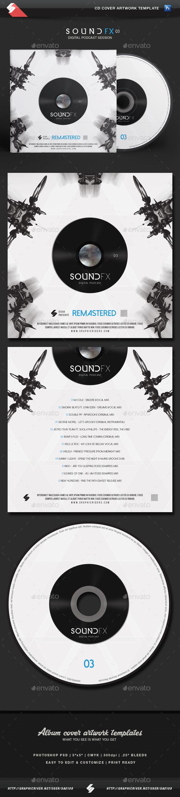 GraphicRiver Sound FX vol.3 CD Cover Artwork Template 11768360