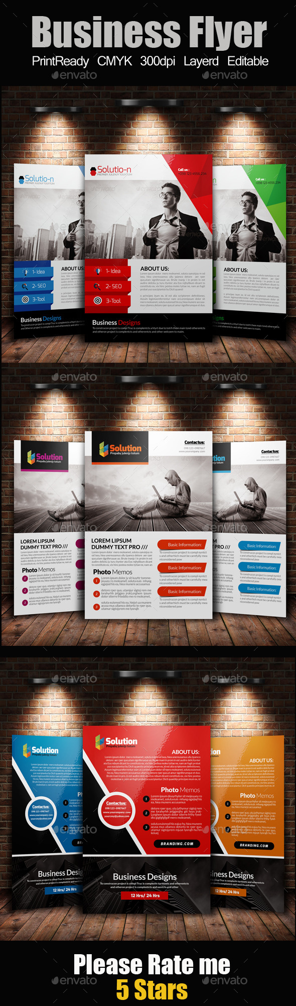 GraphicRiver A4 Business Flyer Template Bunde 11769124