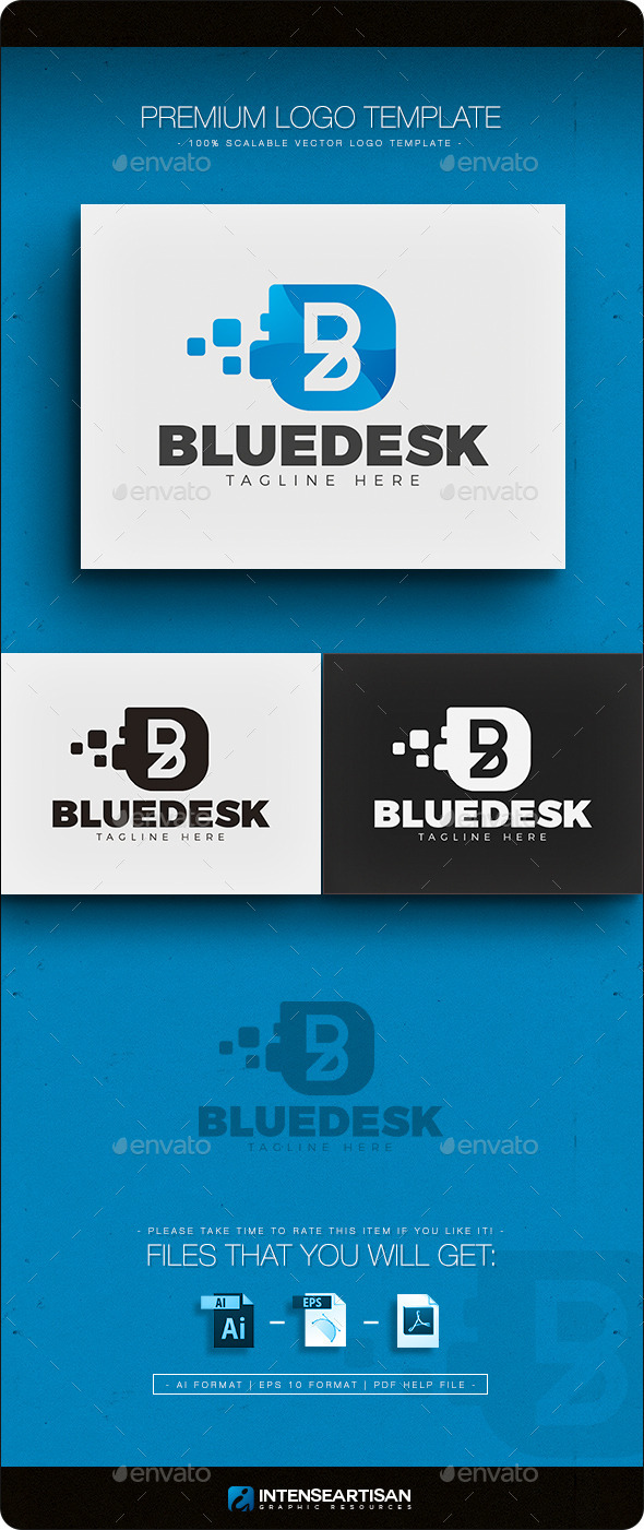 GraphicRiver Blue Desk Letter B Logo 11769382