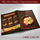 Seafood Restaurant - Food Menu / Bi-fold & Flyer Template - GraphicRiver Item for Sale