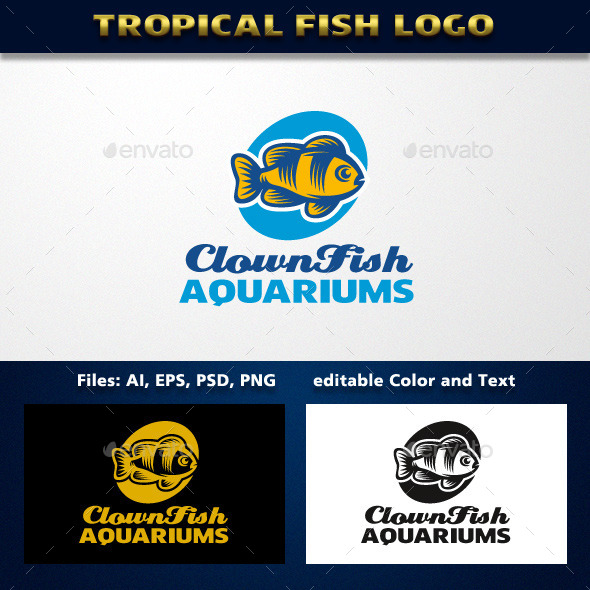 GraphicRiver Tropical Fish Logo 11769441