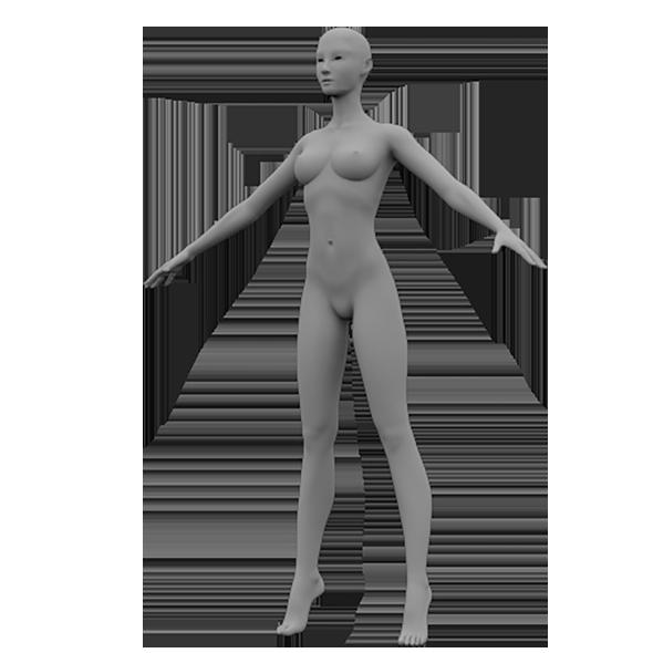 Female Base Mesh - 3DOcean Item for Sale