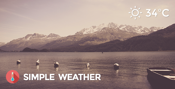 Weather - Simple WordPress Shortcode & Widget