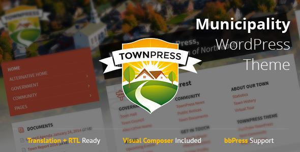 ThemeForest TownPress Municipality WordPress Theme 11490395