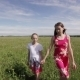 Young Girls Walking Holding Their Hands - VideoHive Item for Sale