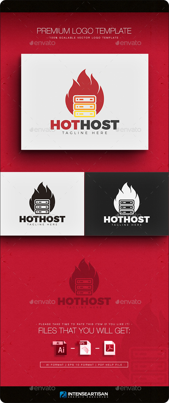 GraphicRiver Hot Host Logo 11769739