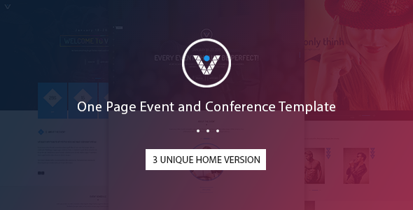 ThemeForest VnEvent One Page Event and Conference Template 11663351