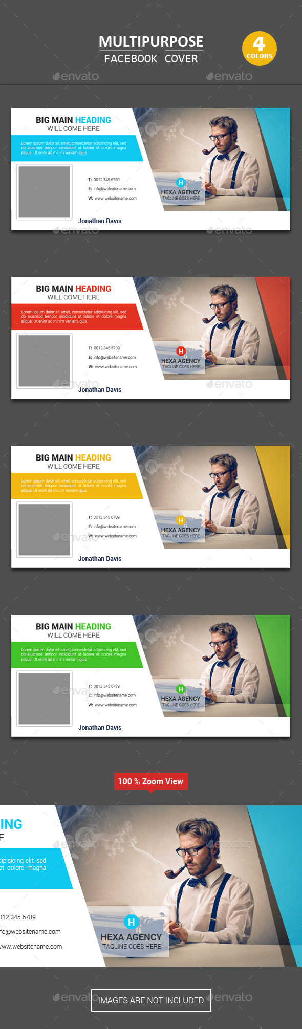 GraphicRiver Multipurpose Facebook Cover 11769754