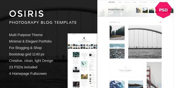 ThemeForest Osiris Minimal Multi-Purpose PSD 11769789